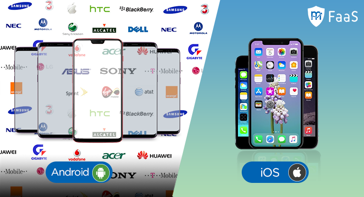 Android vs. iOS - Different devices and manufacturers